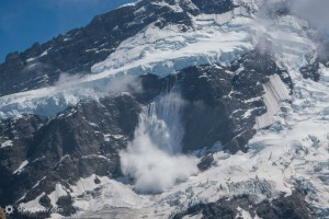 Mt Sefton New Zealand Snow Avalance from Mueller Glacier 720x405