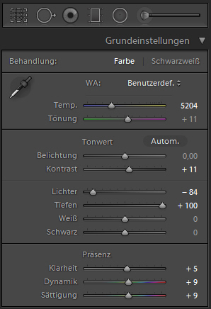 Lightroom Schieberegler Teil 1